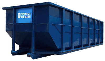 blue discount dumpster rental logo
